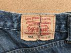 リーバイスジーンズの破れた紙パッチを綺麗に修理
