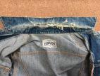 Gジャンの襟の縫製を分解して味のある修理を